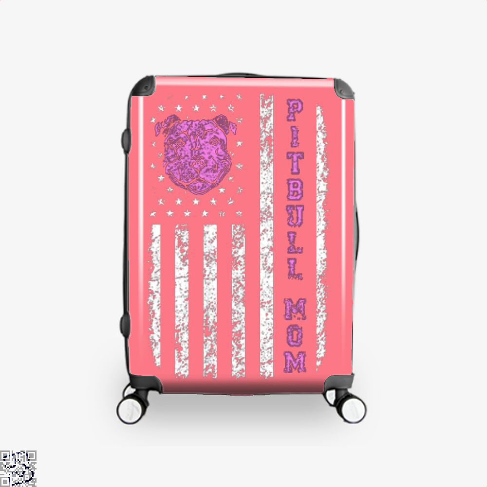The Pitbull Pit Bull Mom Flag Suitcase - Pink / 16 - Productgenjpg