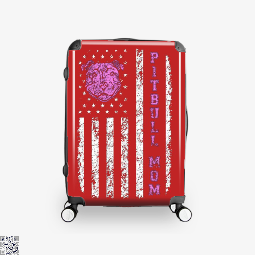 The Pitbull Pit Bull Mom Flag Suitcase - Red / 16 - Productgenjpg