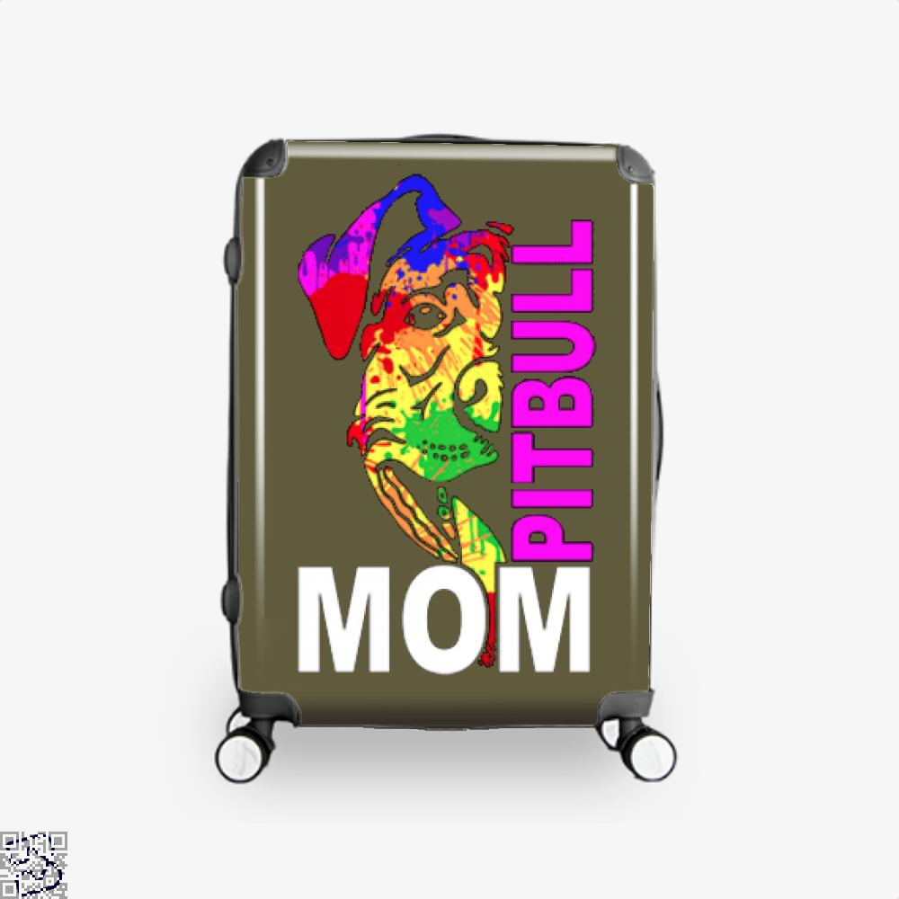 The Pitbull Rainbow Pit Bull Mom Suitcase - Brown / 16 - Productgenjpg
