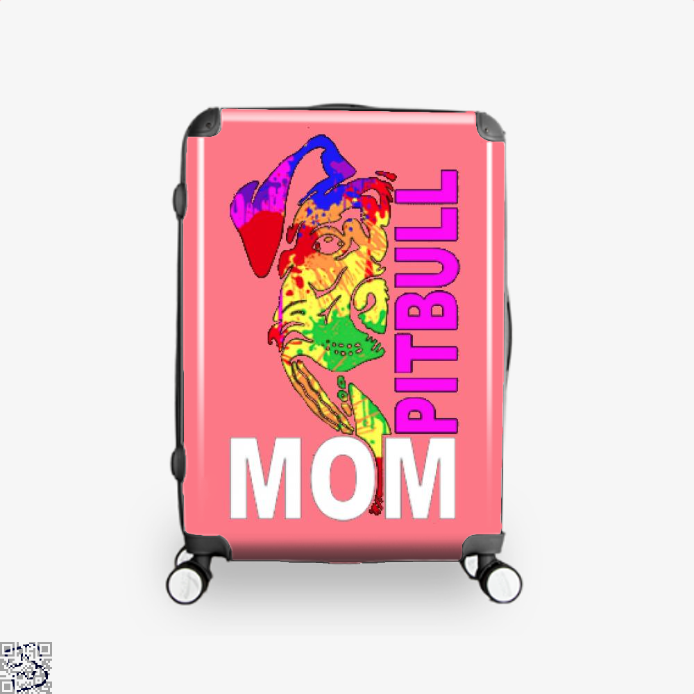 The Pitbull Rainbow Pit Bull Mom Suitcase - Pink / 16 - Productgenjpg