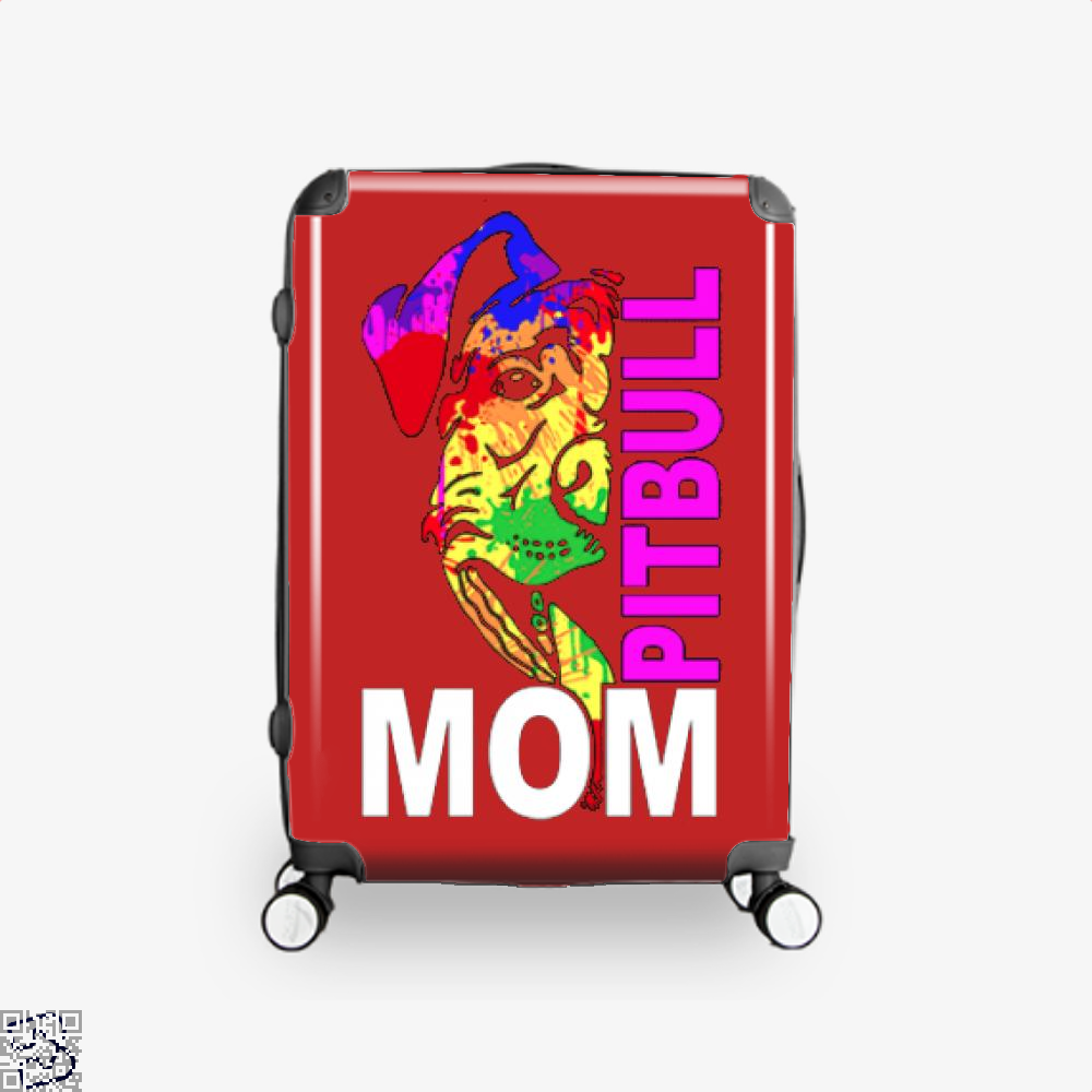 The Pitbull Rainbow Pit Bull Mom Suitcase - Red / 16 - Productgenjpg