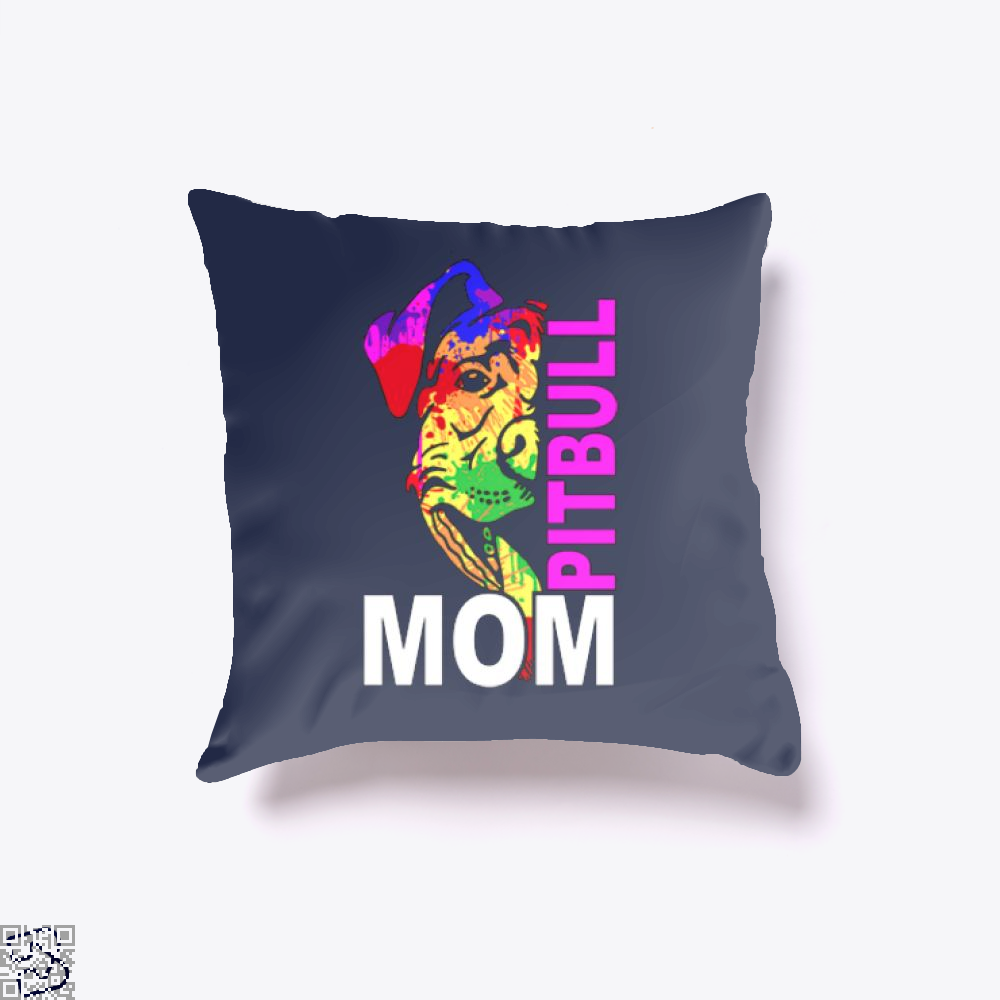 The Pitbull Rainbow Pit Bull Mom Throw Pillow Cover - Productgenjpg