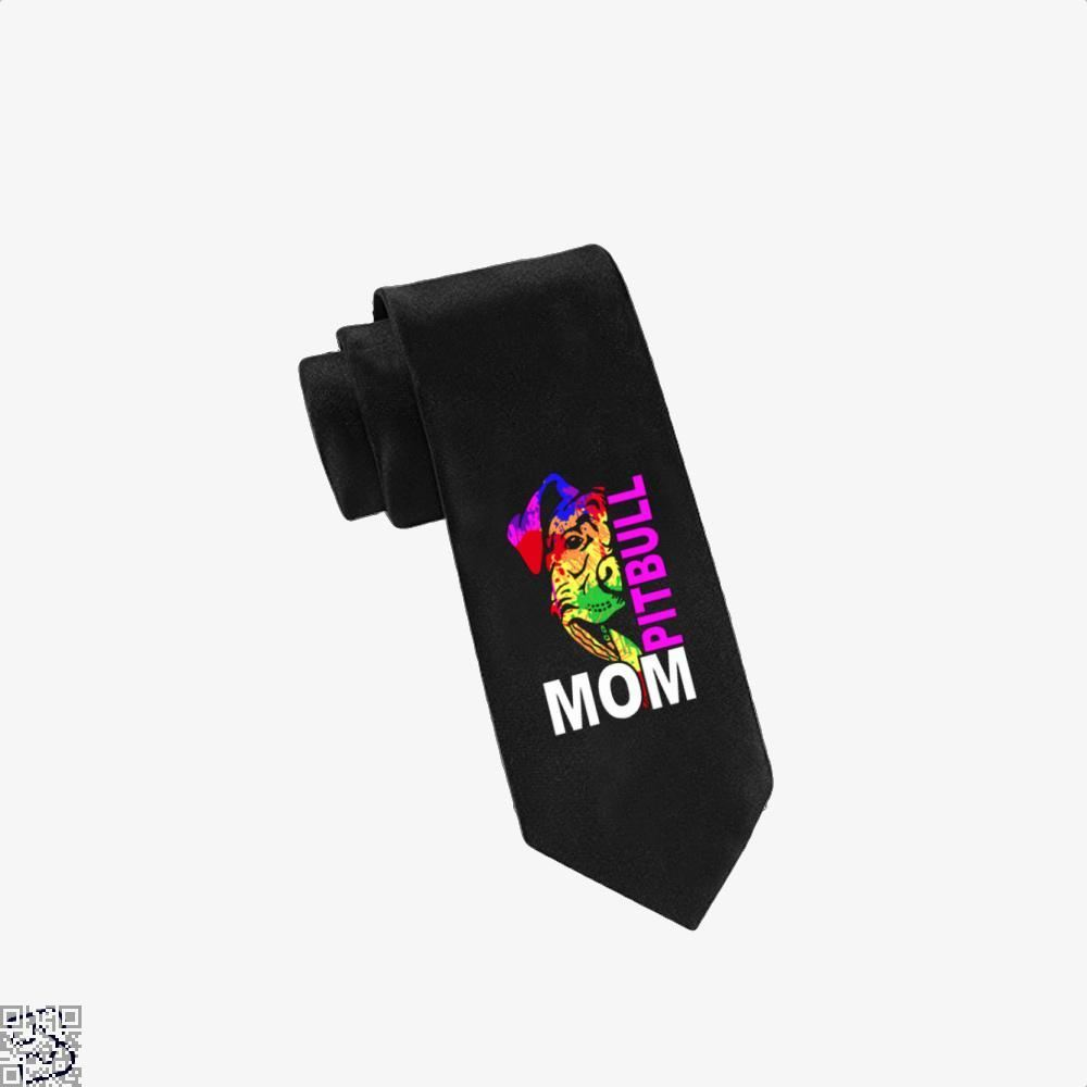 The Pitbull Rainbow Pit Bull Mom Tie - Black - Productgenjpg