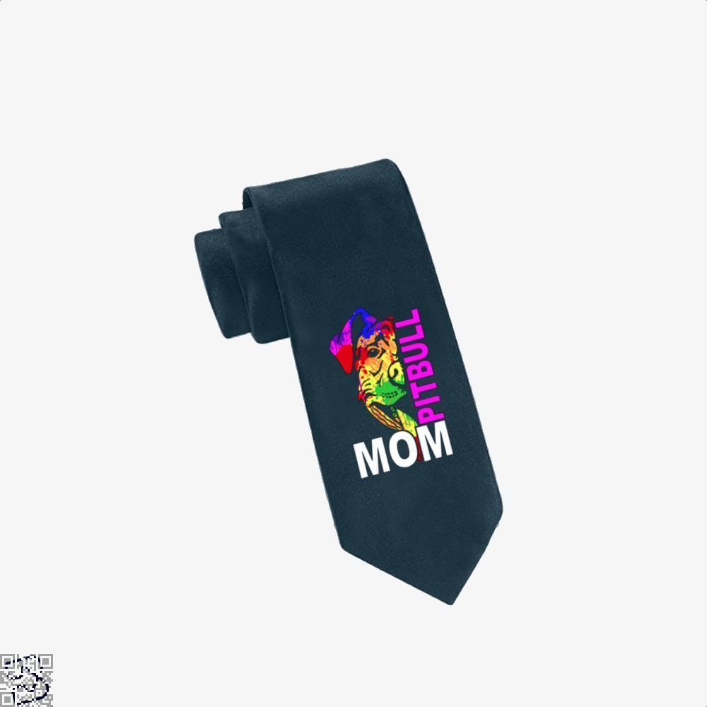 The Pitbull Rainbow Pit Bull Mom Tie - Navy - Productgenjpg
