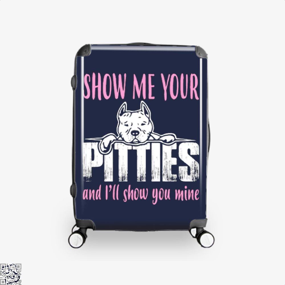 The Pitbull Show Me Your Pitties Suitcase - Blue / 16 - Productgenjpg