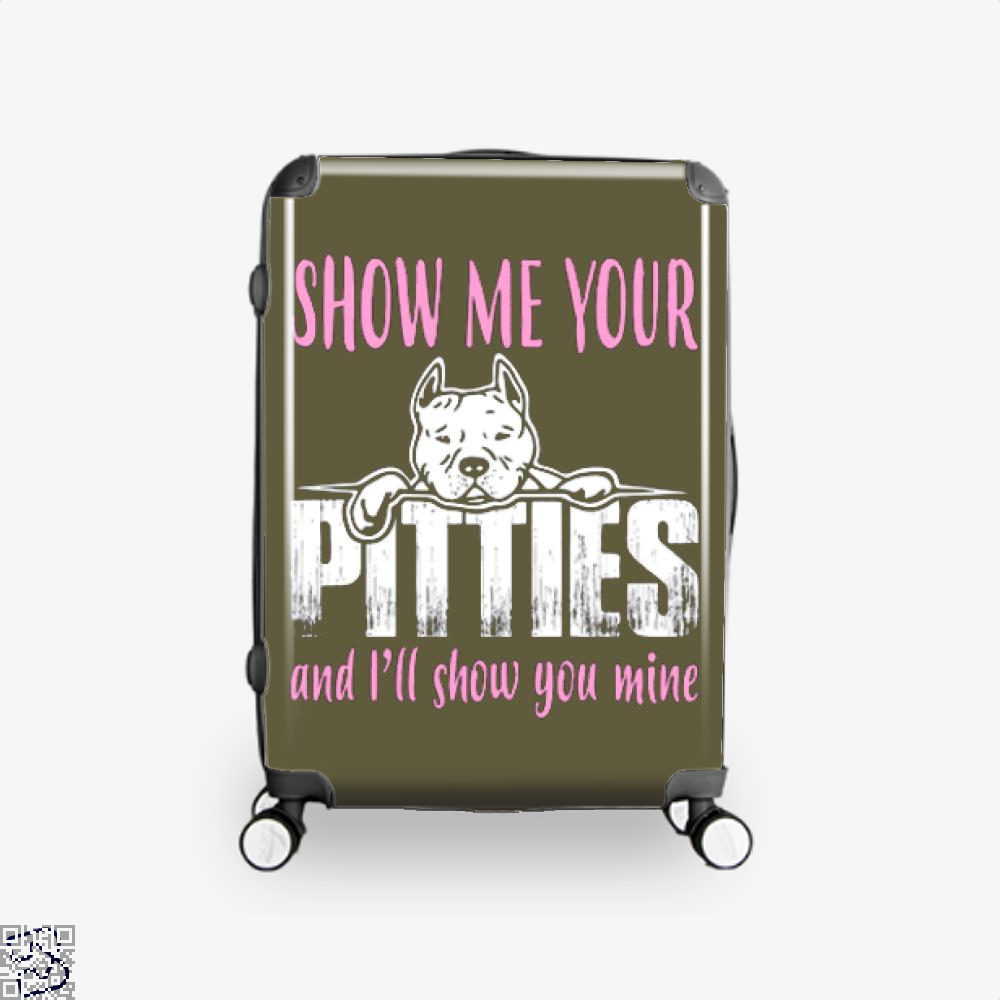 The Pitbull Show Me Your Pitties Suitcase - Brown / 16 - Productgenjpg