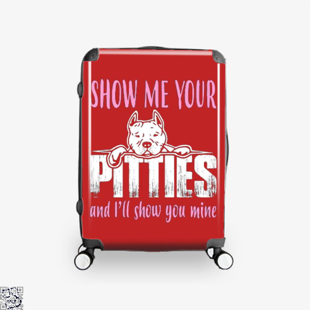 The Pitbull Show Me Your Pitties Suitcase - Red / 16 - Productgenjpg