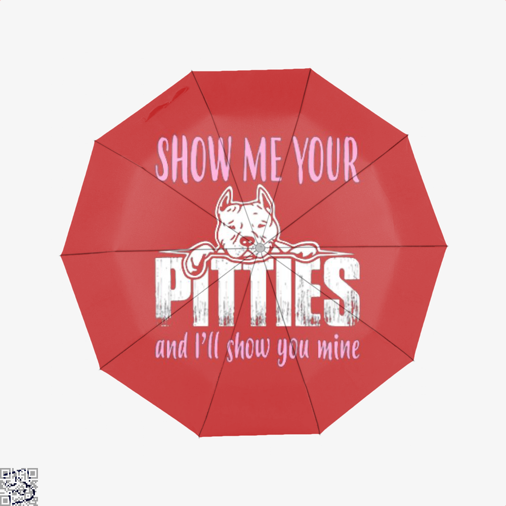 The Pitbull Show Me Your Pitties Umbrella - Red - Productgenjpg