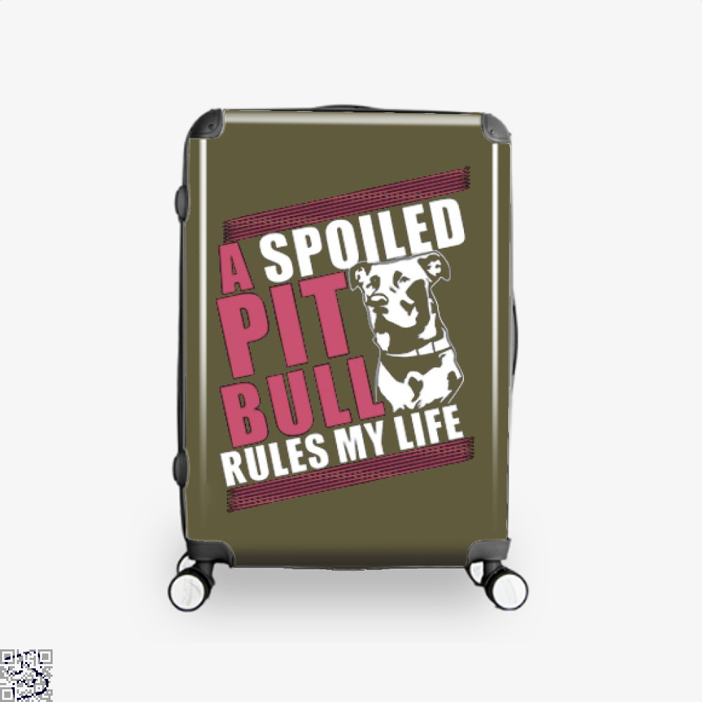 The Pitbull Spoiled Pit Bull Suitcase - Brown / 16 - Productgenjpg