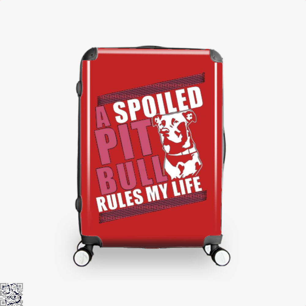The Pitbull Spoiled Pit Bull Suitcase - Red / 16 - Productgenjpg