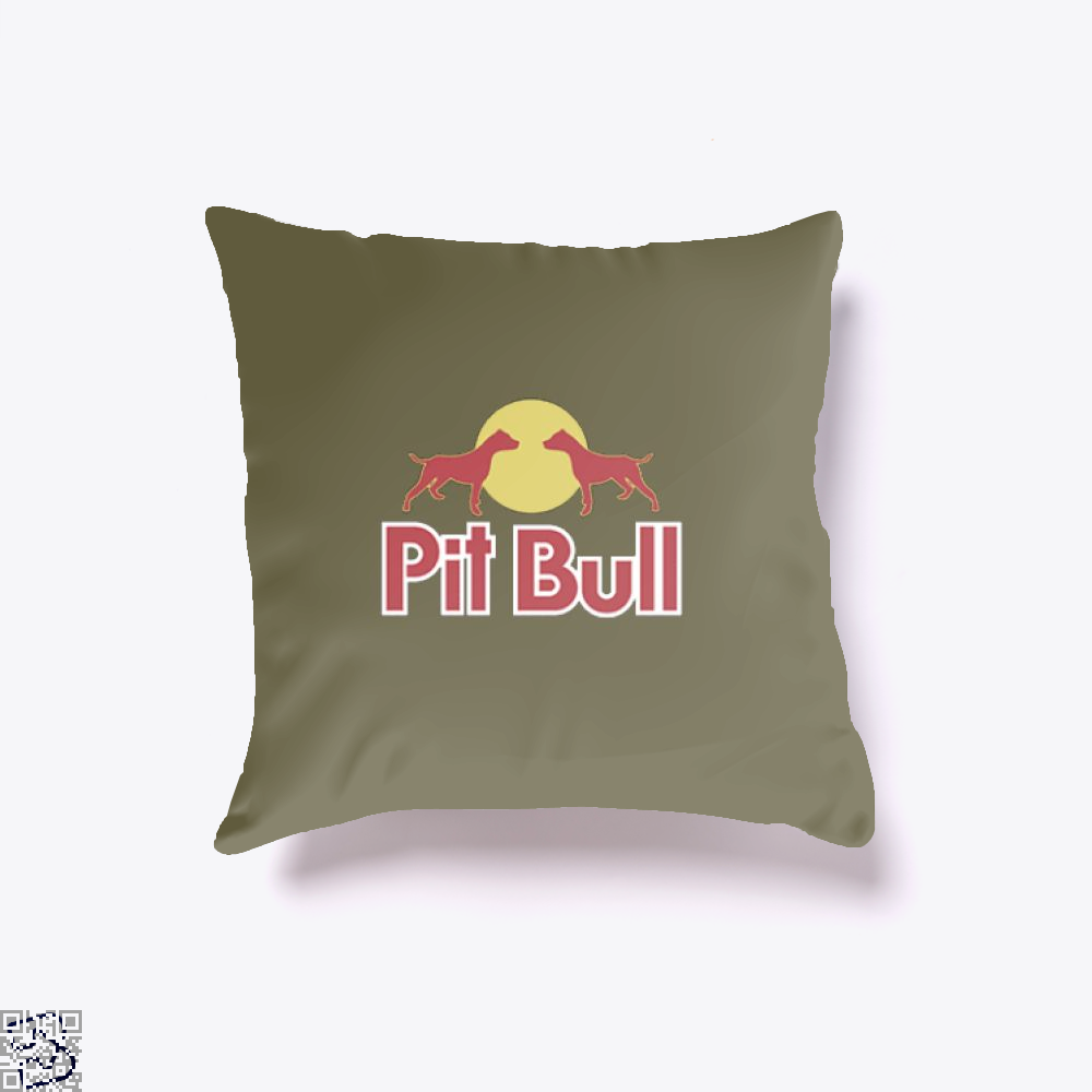 The Pitbull Two Red Pit Bull Throw Pillow Cover - Brown / 16 X - Productgenjpg