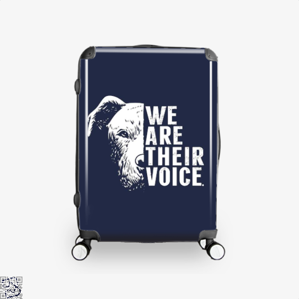 The Pitbull We Are Their Voice Suitcase - Blue / 16 - Productgenjpg