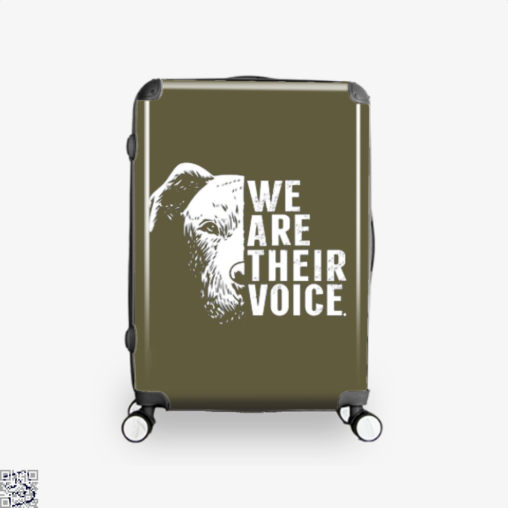 The Pitbull We Are Their Voice Suitcase - Brown / 16 - Productgenjpg