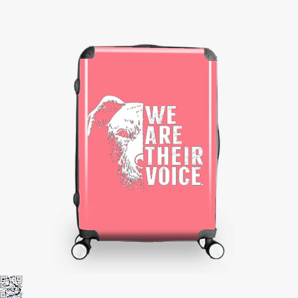 The Pitbull We Are Their Voice Suitcase - Pink / 16 - Productgenjpg