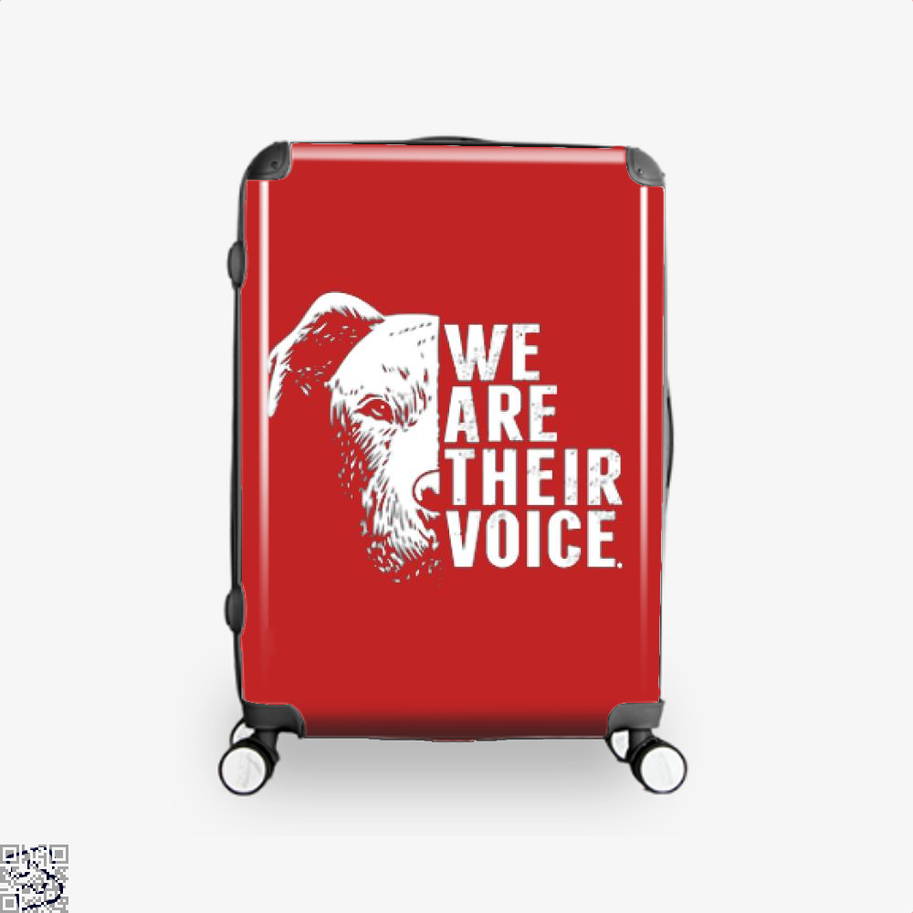 The Pitbull We Are Their Voice Suitcase - Red / 16 - Productgenjpg