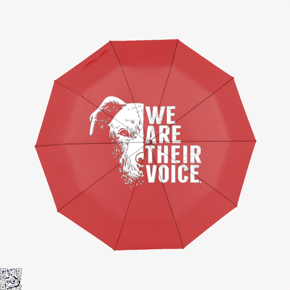 The Pitbull We Are Their Voice Umbrella - Red - Productgenjpg