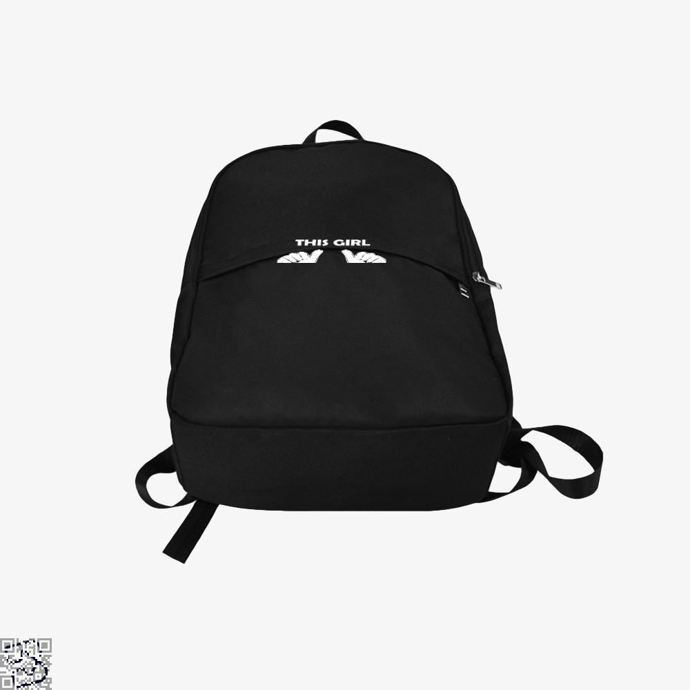 This Girl Loves Presents Deadpan Backpack - Productgenjpg