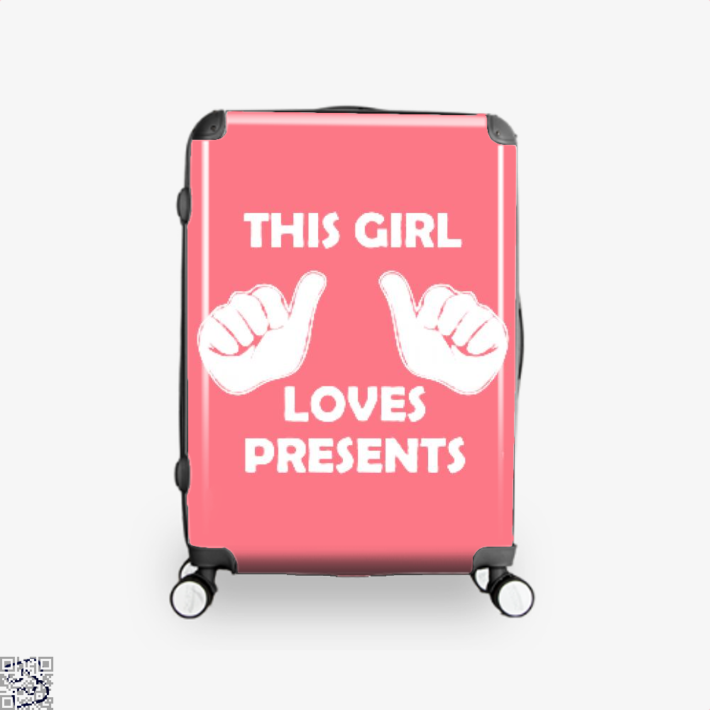 This Girl Loves Presents Deadpan Suitcase - Productgenjpg
