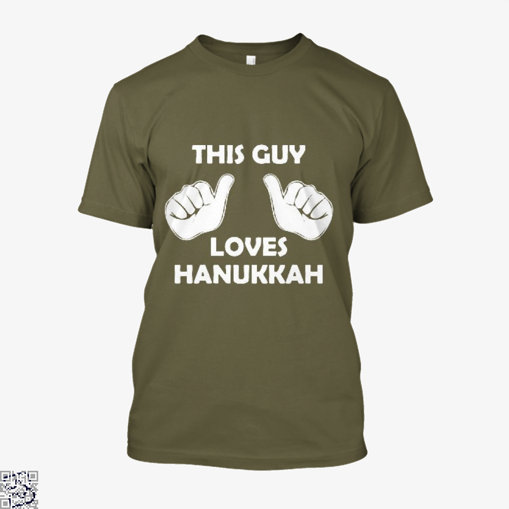 This Guy Loves Hanukkah Deadpan Shirt - Men / Brown / X-Small - Productgenjpg