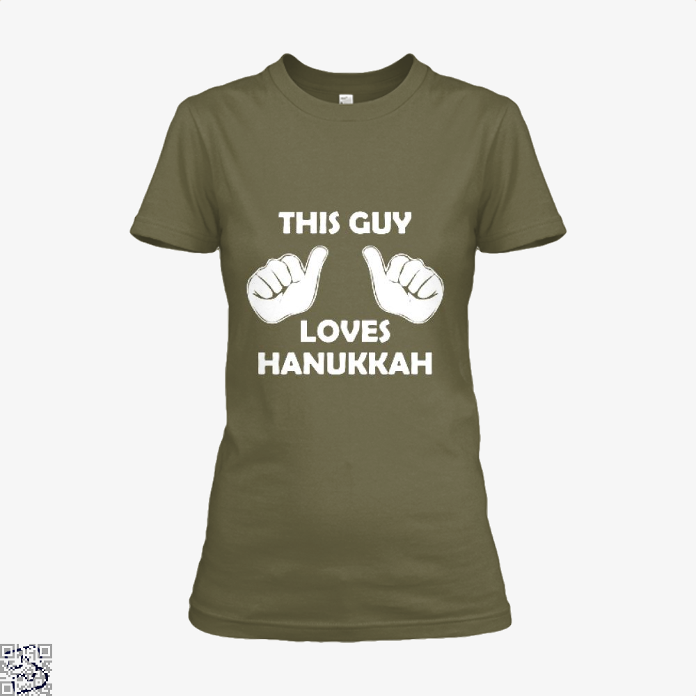 This Guy Loves Hanukkah Deadpan Shirt - Women / Brown / X-Small - Productgenjpg