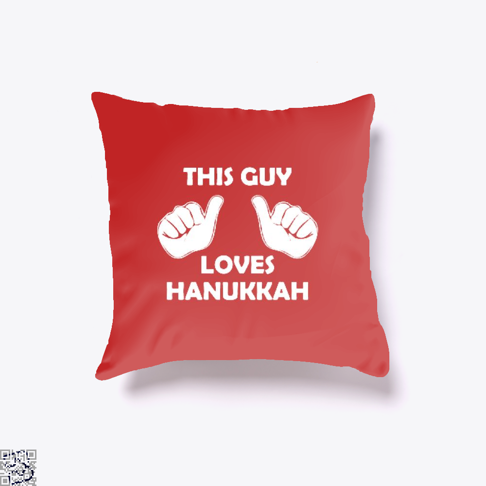This Guy Loves Hanukkah Deadpan Throw Pillow Cover - Productgenjpg