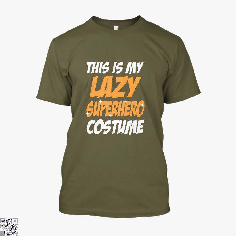 This Is My Lazy Superhero Costume Halloween Shirt - Men / Brown / X-Small - Productgenjpg