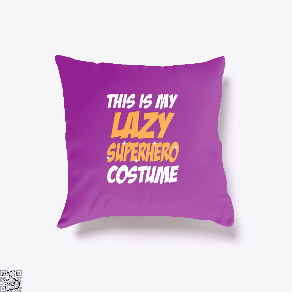 This Is My Lazy Superhero Costume Halloween Throw Pillow Cover - Purple / 16 X - Productgenjpg