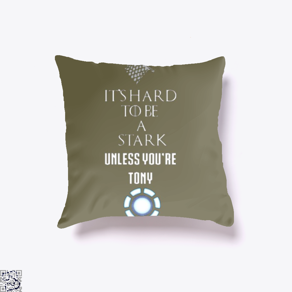 Tony Stark Game Of Thrones Of Throw Pillow Cover - Brown / 16 X - Productgenjpg