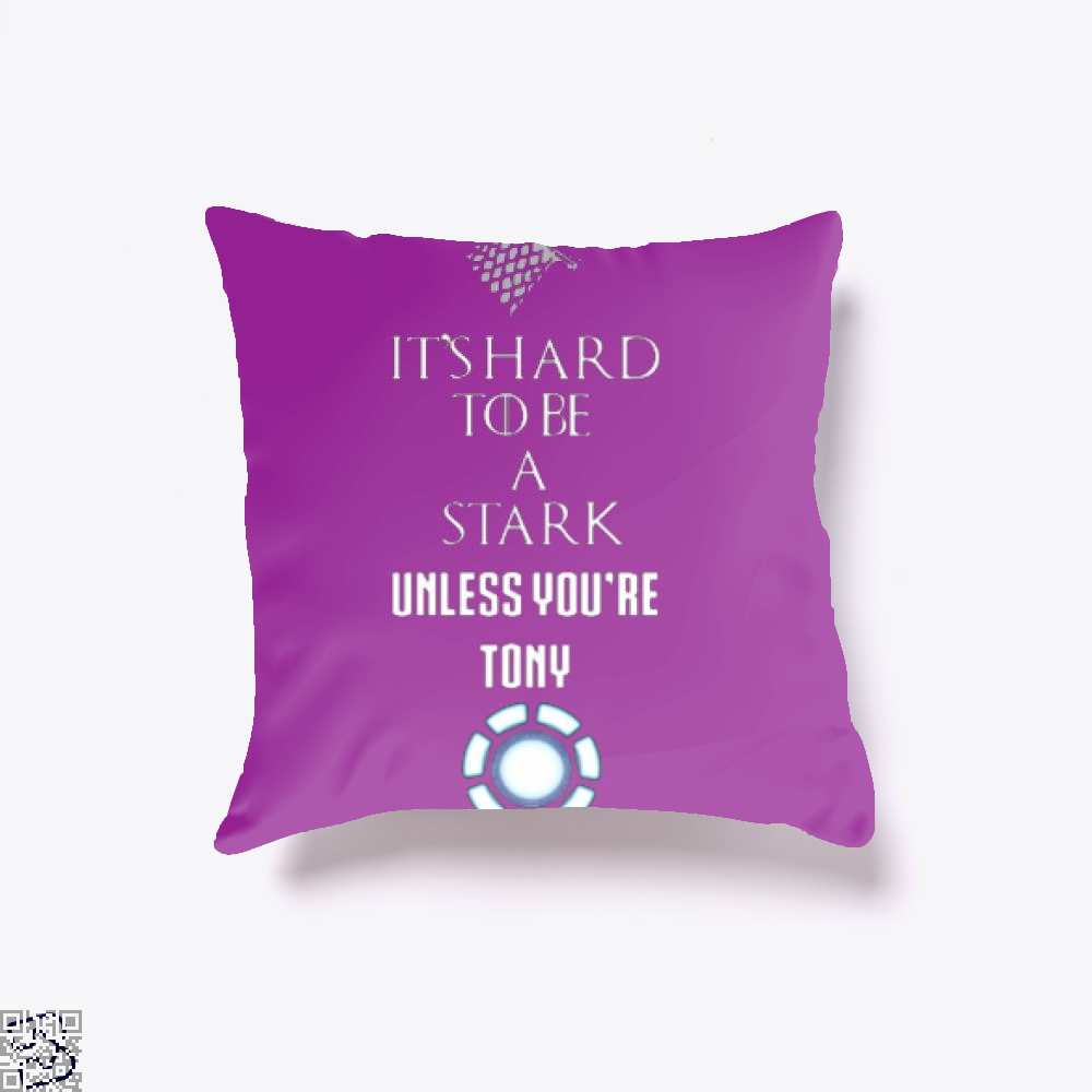 Tony Stark Game Of Thrones Of Throw Pillow Cover - Purple / 16 X - Productgenjpg