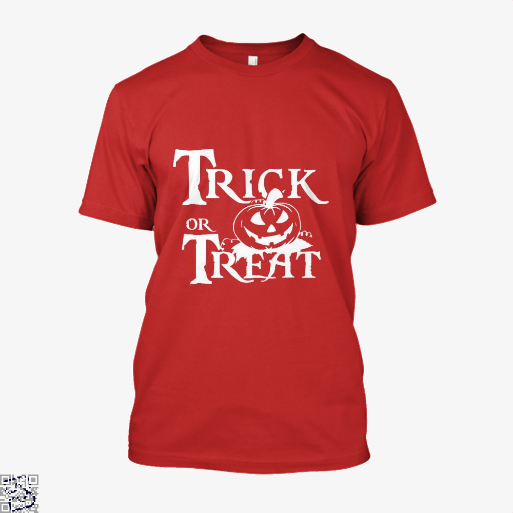 Trick Or Treat Halloween Shirt - Men / Red / X-Small - Productgenjpg