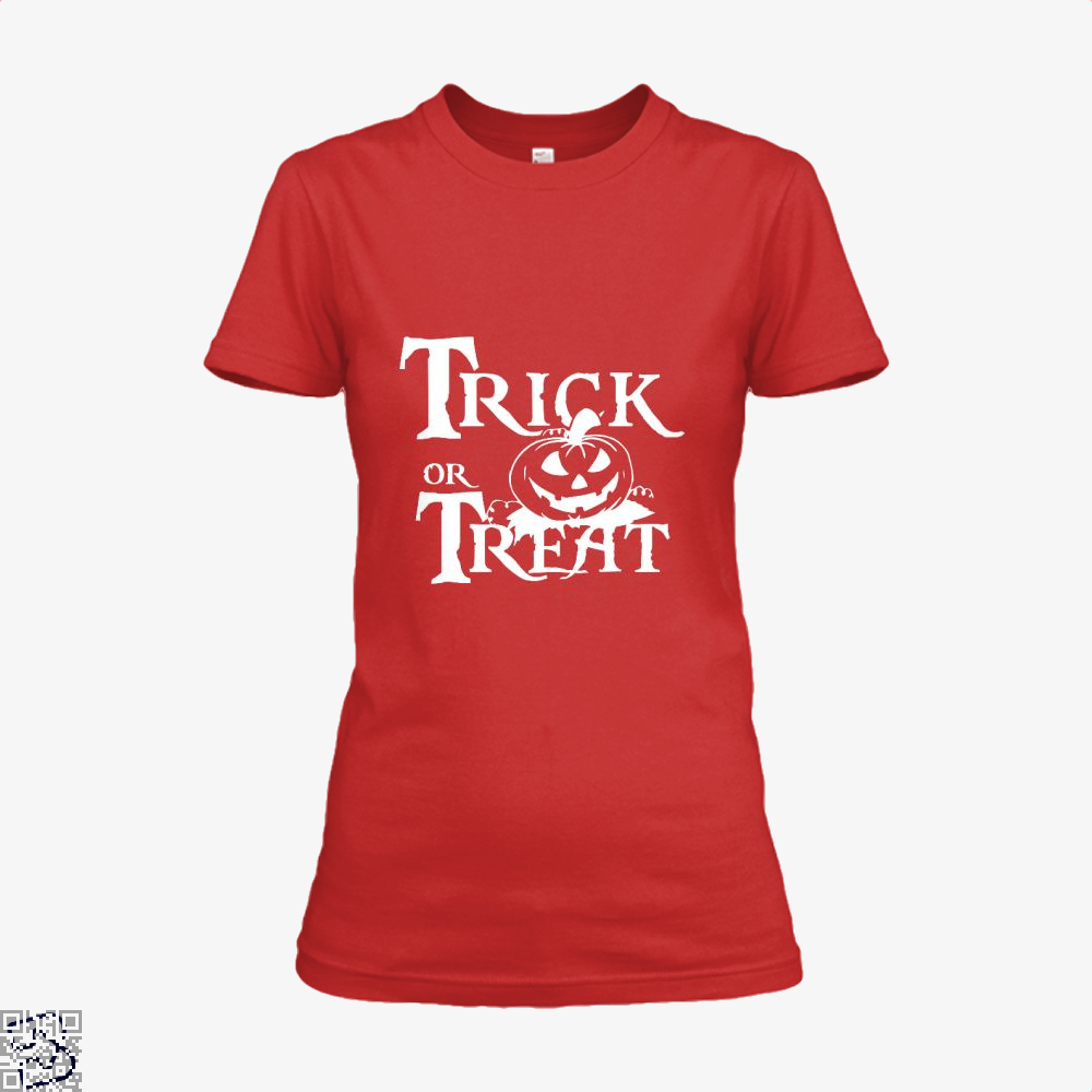 Trick Or Treat Halloween Shirt - Women / Red / X-Small - Productgenjpg