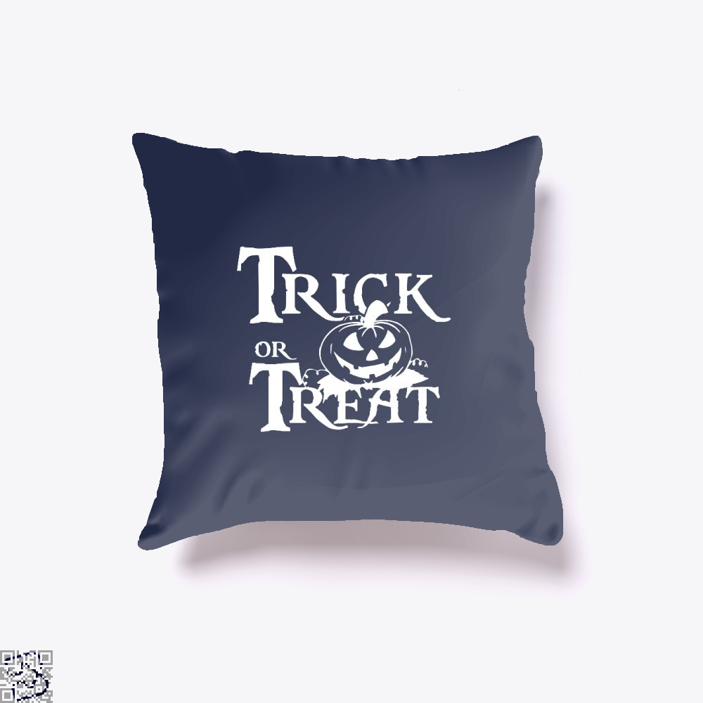 Trick Or Treat Halloween Throw Pillow Cover - Blue / 16 X - Productgenjpg