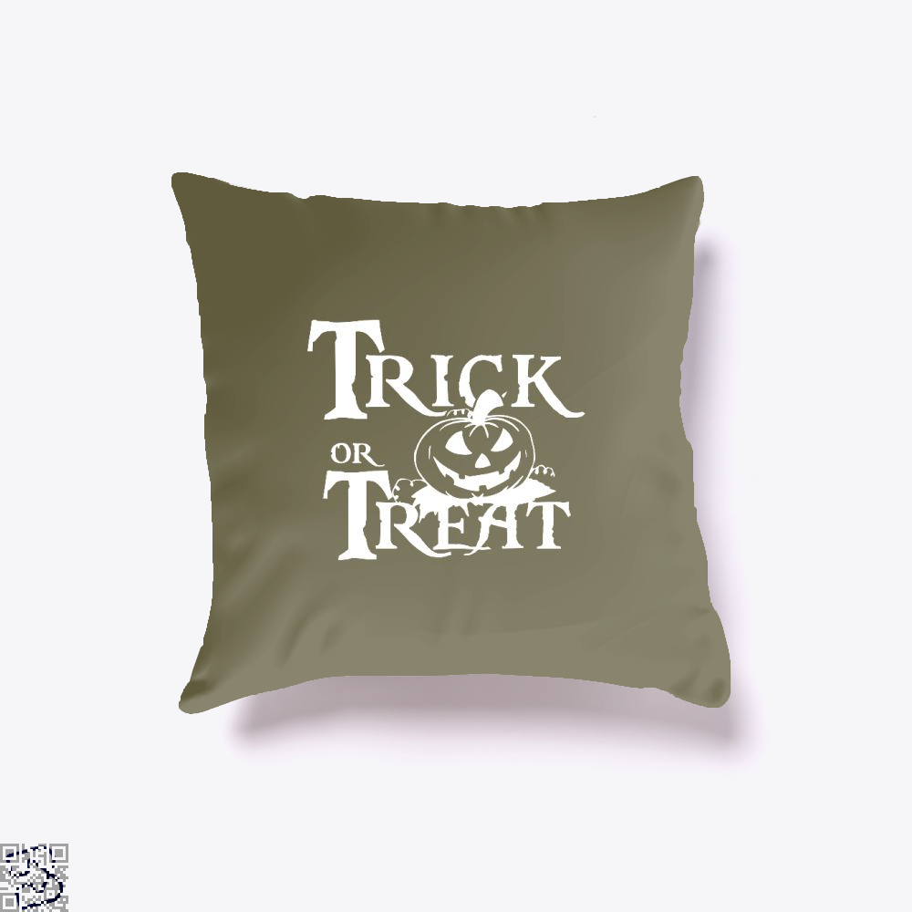 Trick Or Treat Halloween Throw Pillow Cover - Brown / 16 X - Productgenjpg