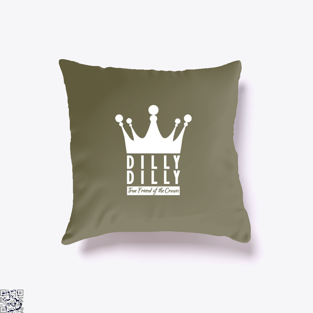 True Friend Of The Crown Dilly Dilly Throw Pillow Cover - Brown / 16 X 16 - Productgenapi