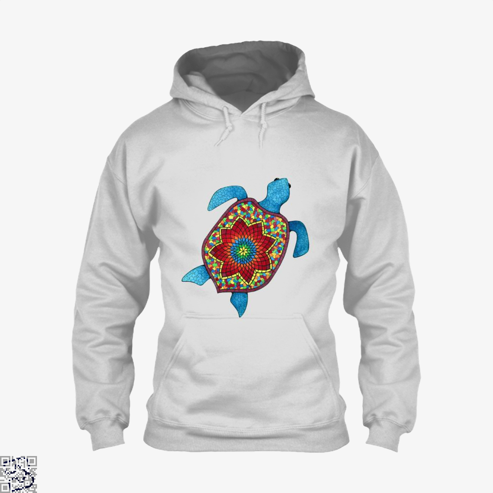 Turtley Awesome Mosaic Watercolor Turtle Sea Turtles Hoodie - White / X-Small - Productgenjpg