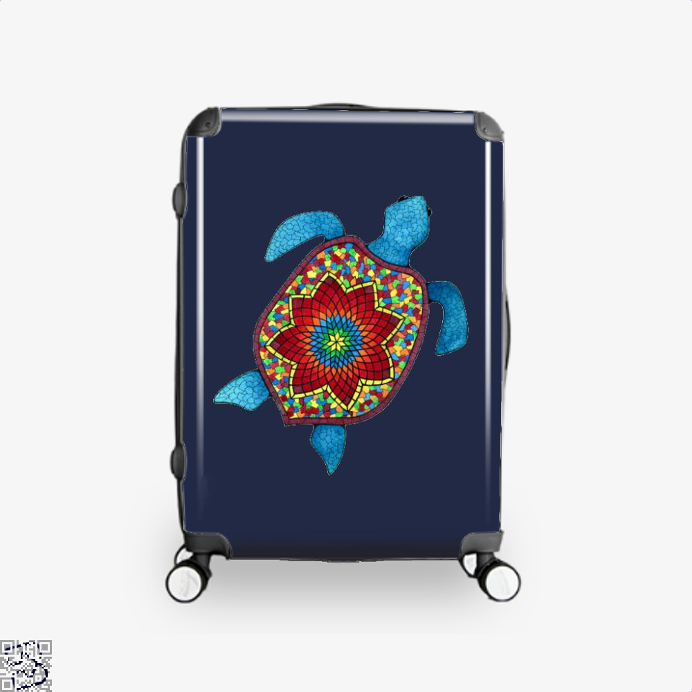 Turtley Awesome Mosaic Watercolor Turtle Sea Turtles Suitcase - Blue / 16 - Productgenjpg