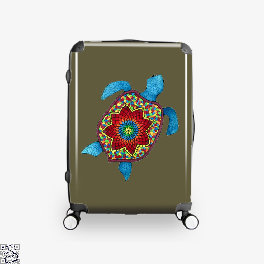 Turtley Awesome Mosaic Watercolor Turtle Sea Turtles Suitcase - Brown / 16 - Productgenjpg