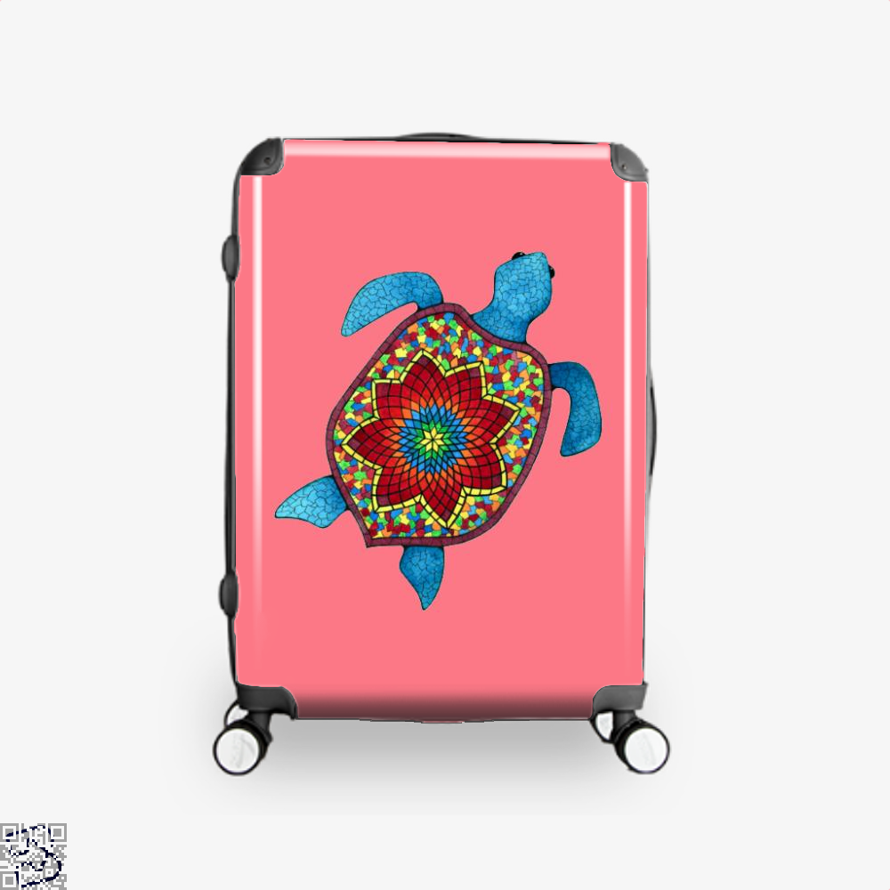Turtley Awesome Mosaic Watercolor Turtle Sea Turtles Suitcase - Pink / 16 - Productgenjpg