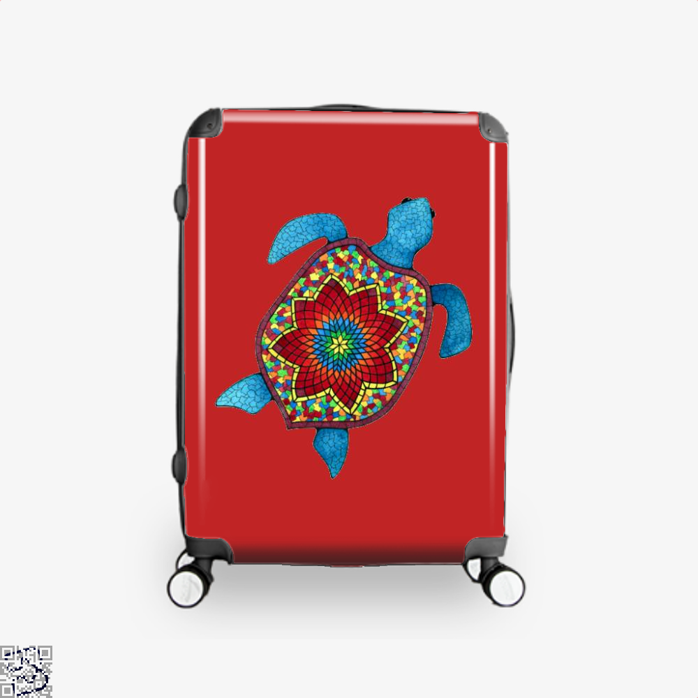 Turtley Awesome Mosaic Watercolor Turtle Sea Turtles Suitcase - Red / 16 - Productgenjpg