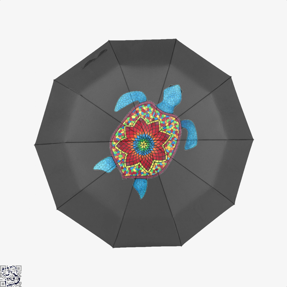 Turtley Awesome Mosaic Watercolor Turtle Sea Turtles Umbrella - Black - Productgenjpg