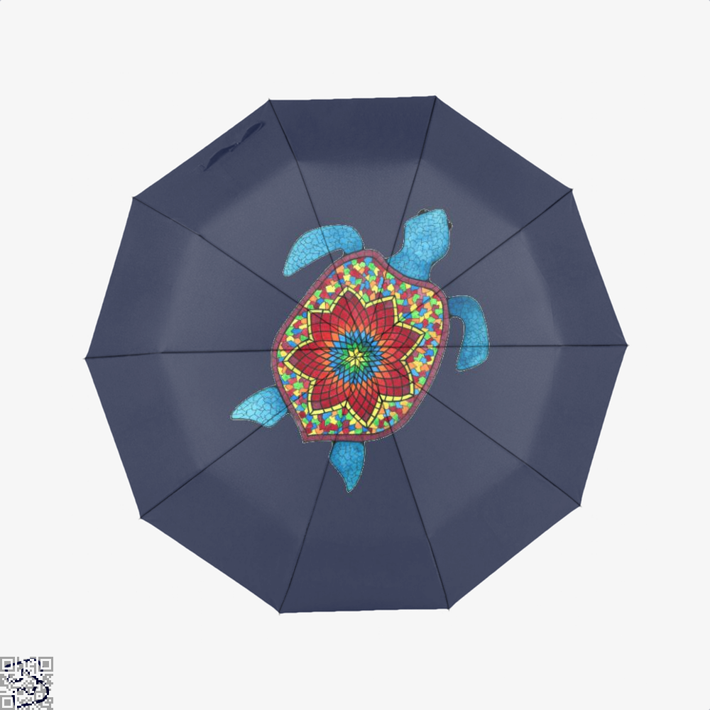 Turtley Awesome Mosaic Watercolor Turtle Sea Turtles Umbrella - Blue - Productgenjpg
