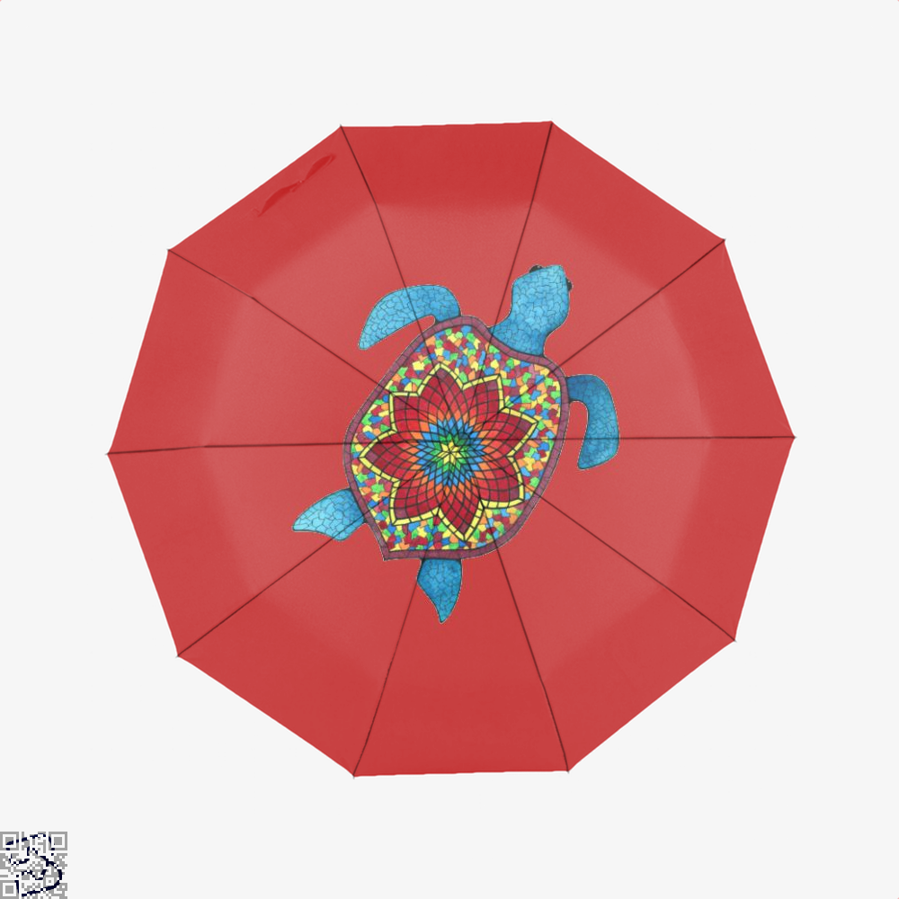 Turtley Awesome Mosaic Watercolor Turtle Sea Turtles Umbrella - Red - Productgenjpg