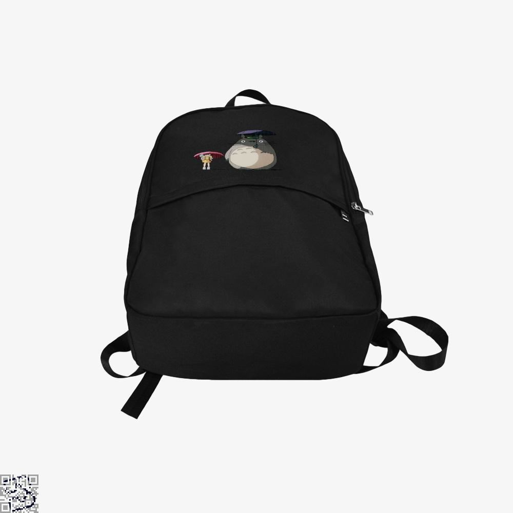 Umbrella Rainy Day Bus Stop My Neighbour Totoro Backpack - Productgenapi