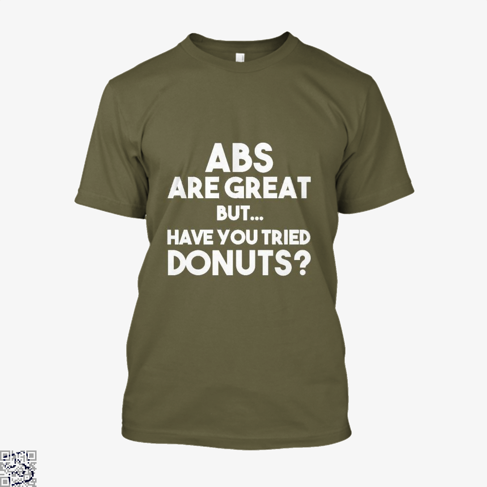 Unisex Abs Are Great But Have You Tried Donuts Graphic Doughnuts Shirt - Men / Brown / X-Small - Productgenapi