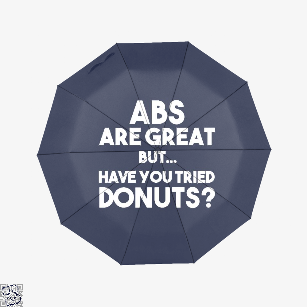 Unisex Abs Are Great But Have You Tried Donuts Graphic Doughnuts Umbrella - Blue - Productgenapi