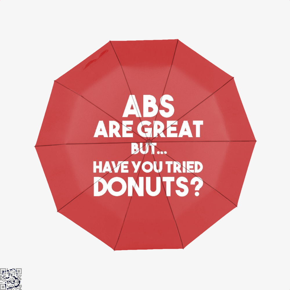 Unisex Abs Are Great But Have You Tried Donuts Graphic Doughnuts Umbrella - Red - Productgenapi