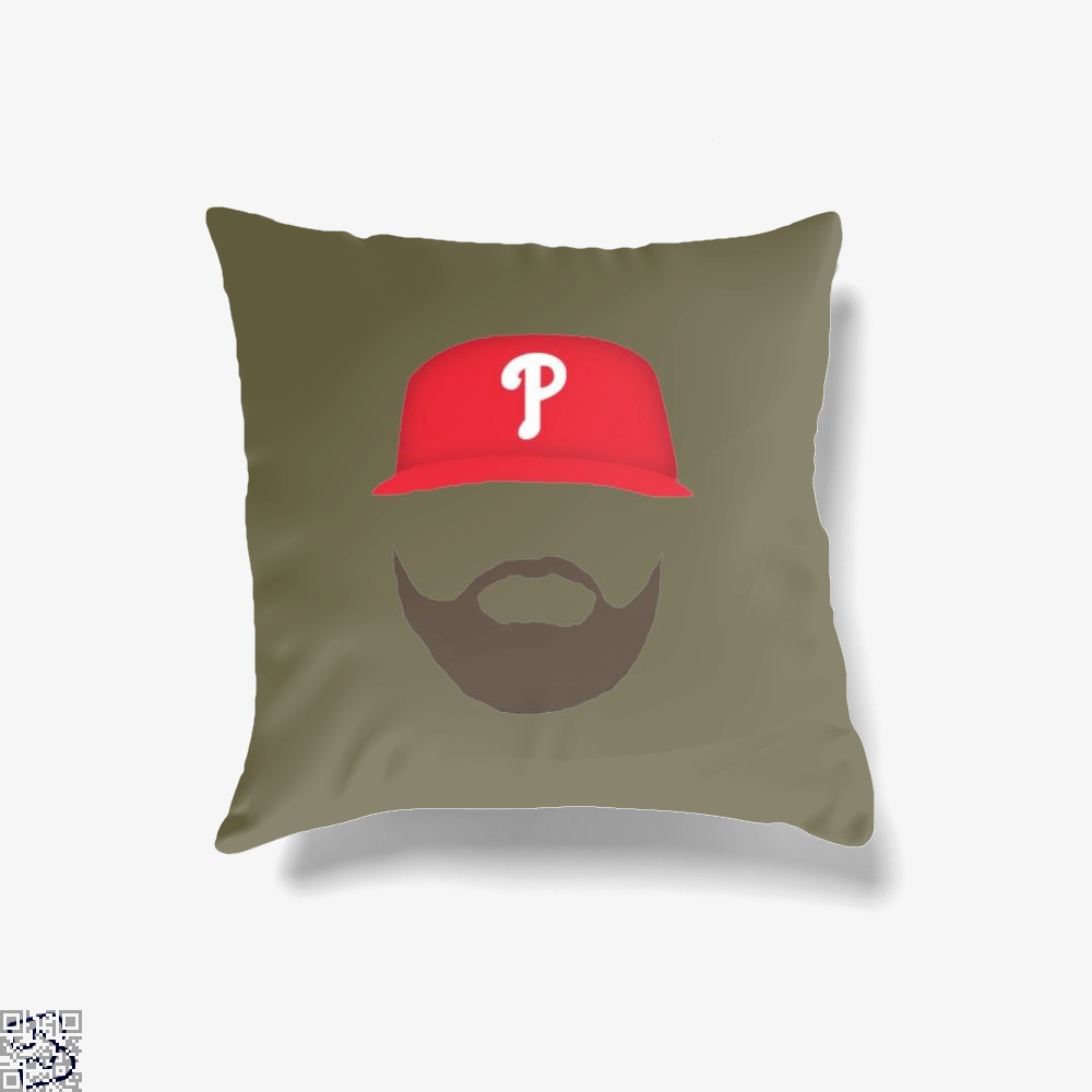 P, Bryce Harper Throw Pillow Cover