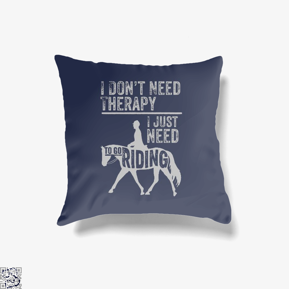 Horse Riding Therapy, Anecdotal Throw Pillow Cover