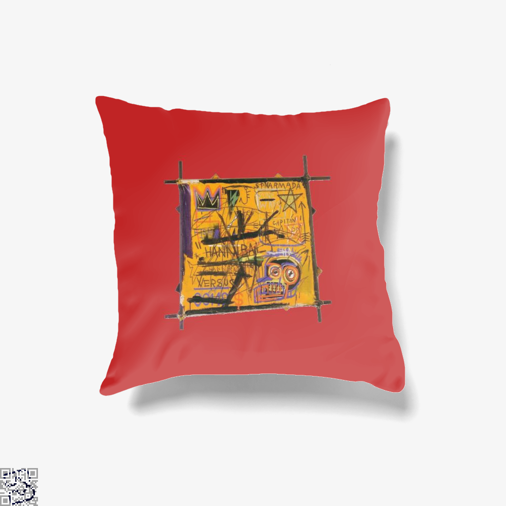 Basquiat Arts, Jean-michel Basquiat Throw Pillow Cover