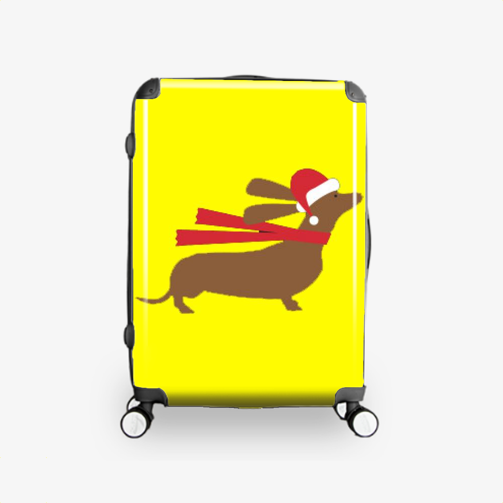Christmas Dachshund, Dachshund Hardside Luggage